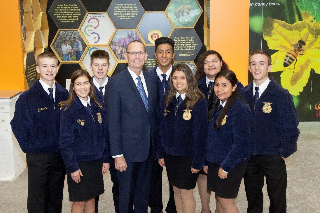 Undersecretary Ibach visits with California FFA